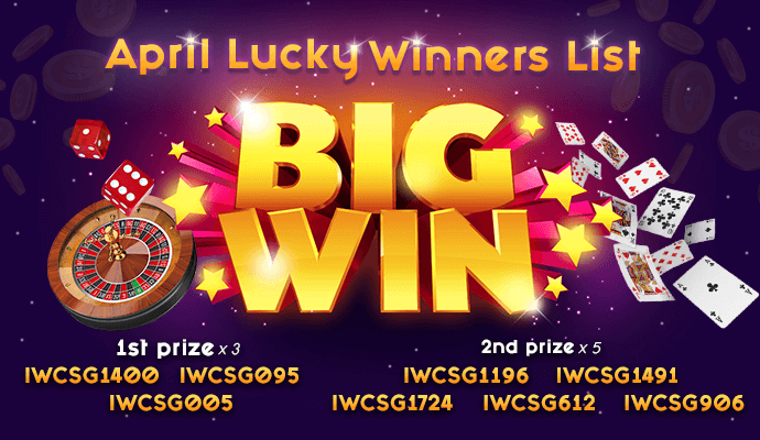 iwinclub april lucky draw promotion promotion result